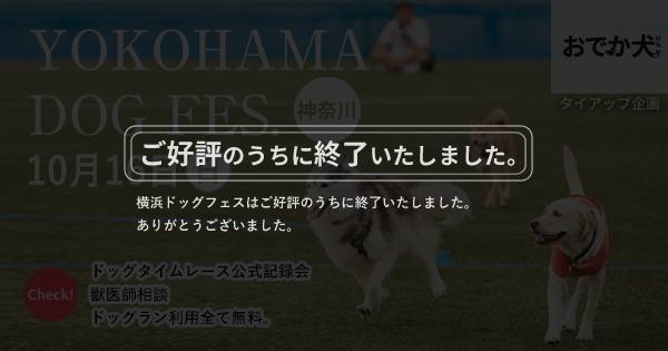 YOKOHAMA DOG FESでおでか犬