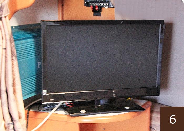 電波状態の良い場所ではテレビを視聴することもできます。